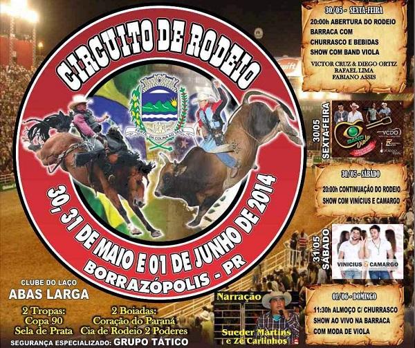Circuito Rodeio 2018 : Circuito de rodeio borrazópolis agenda eventos