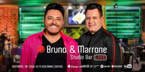 Bruno & Marrone Studio Bar: Dupla comemora 25 anos do primeiro álbum gravado