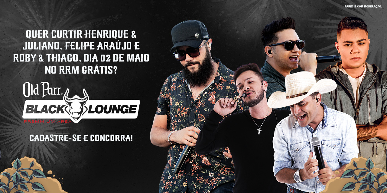Você no RRM2019 de Camarote Black Lounge | 02 de abril