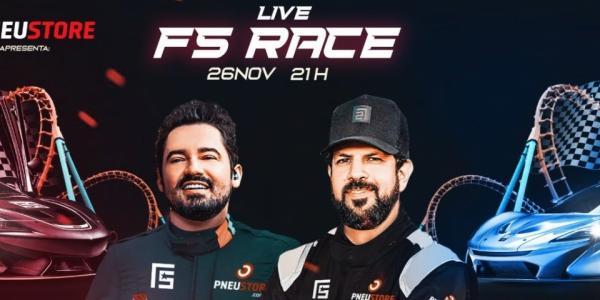 FERNANDO E SOROCABA ACELERAM NA LIVE FS RACE
